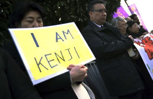 Japan rallied around Goto after his capture by ISIS. Photo: AP/Eugene Hoshiko