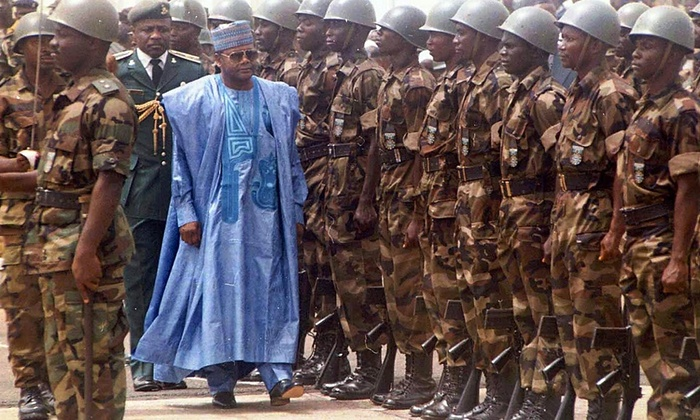General Sani Abaca took power through a coup and governed over Nigeria from 1993 to 1998. Though Abaca accomplished much in reducing Nigeria's external debt, he has been criticized for human rights violations within the country. Photo: James Fasuekoi/AP